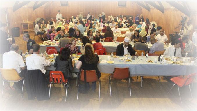 Community Ramadan Iftar in Malden 2014
